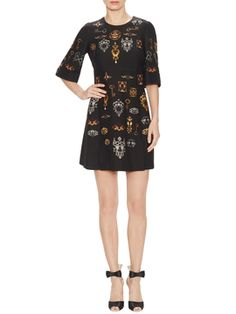 My style! Lock & Key Print Shift Dress from Dolce & Gabbana Apparel on Gilt