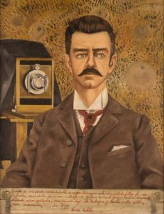 Frida Kahlo 1907-1954Retrato de mi padre Guillermo Kahlo, 1952Óleo / tela, 61 x 47 cm