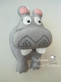 giuliana handmade: hippopotamus in felt this one doesn't come with a pattern...