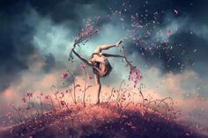"""VIRGO from the Dancing Zodiac by French Artist Cyril Rolando (""""AquaSixio"""") on Deviant Art. Posters Paris, Cyril Rolando, Art Anime Fille, Le Vent Se Leve, Zodiac Calendar, Photo D Art, Zodiac Art, Zodiac Signs, Art Courses"""