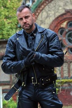 Leather Uniform Men