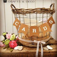 Hochzeitsdeko - Korb Kartenaufbewahrung Hochzeit Briefbox - ein Designerstück von CraftsandDeco bei DaWanda