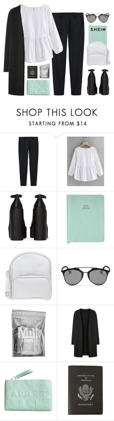 """#958"" by maartinavg ❤ liked on Polyvore featuring Thakoon, Jeffrey Campbell, Jil Sander Navy, Christian Dior, MILK MAKEUP, H&M and Smythson"