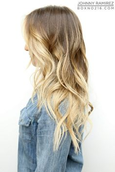 Dirty blonde w ombre