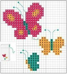 Cactus Cross Stitch, Butterfly Cross Stitch, Mini Cross Stitch, Beaded Cross Stitch, Cross Stitch Animals, Modern Cross Stitch, Cross Stitch Embroidery, Baby Cross Stitch Patterns, Cross Stitch Designs