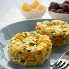 Muffin Frittatas This can be made ahead of time and reheated in the microwave anytime. Tummies will be smiling.