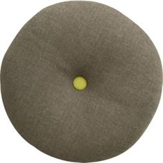 "Crate & Barrel button-up chartreuse circle 16"" pillow"