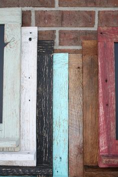 Rustic Red Reclaimed Barn Wood Chalkboard with a Shelf Perfect for Your Home, Office, or Wedding. $45.00, via Etsy.