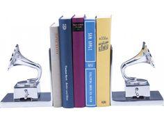 Podpórka na Książki Gramophone (2/Set) — Podpórki na książki — KARE® Design