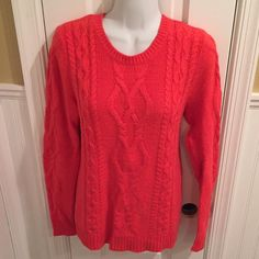 """Cable knit sweater Very little piling. About 25"""" long. jcpenney Sweaters Crew & Scoop Necks"""