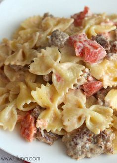 Italian Sausage with Bowtie Pasta recipe - a new favorite!!