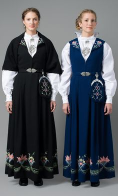FolkCostume&Embroidery: Overview of Norwegian Costumes, part The eastern heartland Folk Fashion, Ethnic Fashion, Folk Costume, Costumes, Norwegian Clothing, Bridal Dresses, Bridesmaid Dresses, Folk Clothing, Textiles