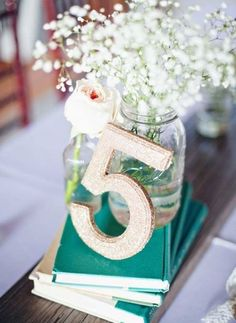 48 Creative Beach Wedding Table Numbers | HappyWedd.com