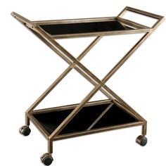 Shop for Zafina Gold Bar Cart at France & Son for the best deals. Free shipping on all orders over $99 in the US.