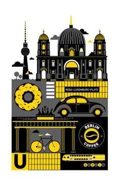 Berlin Art Print by Koivo | Society6