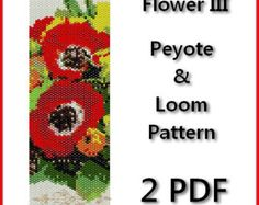 Tulip Flowers Peyote and Loom Pattern Beading - Tutorial PDF - 2 file instant    The pattern is designed based on using a peyote and loom stitch with Miyuki Delices Size 11 beads. Patterns also work well with seed beads.    Thank you for taking the time to take a look at one of our patterns.  All patterns have been created with great care so as to ensure excellent results. This pattern uses 14 colours and is approx. 4,05 cm 1.59in x 16,53 cm 6.51in Upon purchasing one of our patterns you…