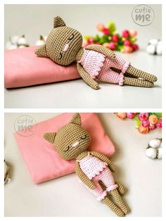 Cat Crochet, Crochet Patterns Amigurumi, Amigurumi Doll, Crochet Toys, Free Crochet, Step By Step Crochet, Cute Bat, Learn To Crochet, Stuffed Toys Patterns