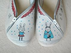 Illustrated shoes by biribis for Doble Sentido. Nice!!!