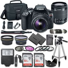 Canon EOS Rebel T6 DSLR Camera Bundle with Canon EF-S 18-55mm f/3.5-5.6 IS II Lens + 2pc SanDisk 32GB Memory Cards + Accessory Kit review - http://www.bestseller.ws/blog/camera-and-photo/canon-eos-rebel-t6-dslr-camera-bundle-with-canon-ef-s-18-55mm-f3-5-5-6-is-ii-lens-2pc-sandisk-32gb-memory-cards-accessory-kit-review/