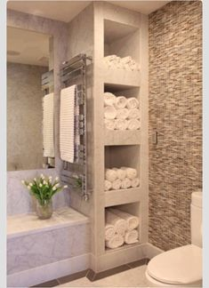 best small bathroom storage ideas for . We've already done the work for you when it comes to finding and curating small bathroom storage ideas. House Bathroom, Bathroom Inspiration, Bathroom Interior, Small Bathroom, Bathrooms Remodel, Home Remodeling, Bathroom Decor, Home, Bathroom Design