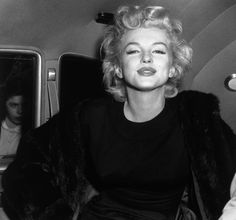 Marilyn Monroe leaving a party at the Beverly Hills Hotel in honour of Indonesian president Soekarno, 1956.