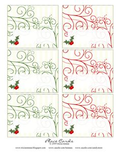 Free Printable - Tricia-Rennea, illustrator: Christmas Place-Cards and Ideas