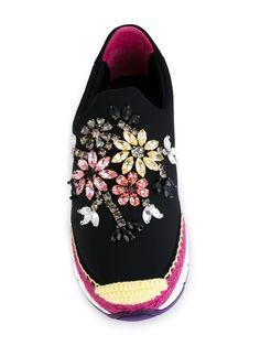 Dolce & Gabbana Tênis slip on de neoprene com aplicações