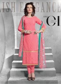 Bottom Fabric FT Fabric Colour Peach Dupatta Fabric Chiffon Fabric 60gm Schiffli Fabric Care Dry Clean Only Inner Fabric FT Fabric Occasion Casual Shipping time 7 days Type Dress Material Work Embroidered
