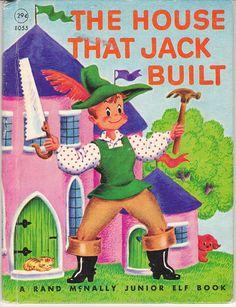 The House That Jack Built - 1947 Rand McNally Junior Elf Book Tony Brice