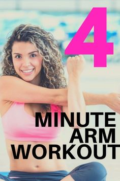 Arm Workout 4 Women - this 4 minute arm toning routine is designed so you don't need any weights and it 5 Minute Arm Workout, Arm Workout Videos, Tone Arms Workout, Arm Workouts At Home, Lower Ab Workouts, Easy Workouts, Morning Ab Workouts, Weight Workouts, Lose Arm Fat