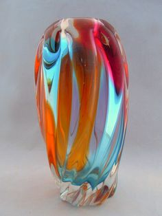 Art Glass Vase, vintage