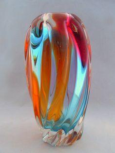 Art Glass Vase, vintage