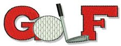 Embroidery | Free Machine Embroidery Designs | Bunnycup Embroidery | Golf