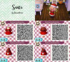 Animal Crossing New Leaf qr code cute santa christmas dress outfit red winter acnl design by sturmloewe