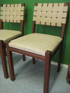 Aino Aalto 615-tuolit 60-luvulta, 4kpl, myynnissä @Verhoomo Vekki. Aino Aalto 615-chairs for sale! Original upholstery from the 60´s.