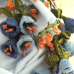 立体レース 花のパシュミナストール ベビーブルーの画像3枚目