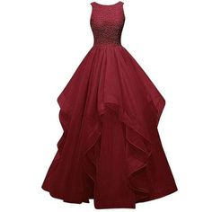 burgundy long A line Prom Dress,gorgeous prom gown 2016, FS17112