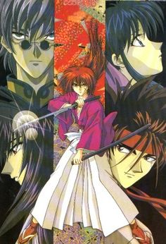 Enishi, Kaoru, Kenshin, Tomoe, and Sanosuke