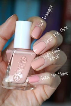 This is such an incredibly beautiful pale peachy pink nude. It's … Swoon! This is such an incredibly beautiful pale peachy pink nude. It's my favourite out of all the pale peachy pink nudes I own, not … Nude Nails, My Nails, Blush Pink Nails, Glitter Nails, Essie Nail Colors, Essie Pink Nail Polish, Manicure Colors, Gel Polish, Manicure Y Pedicure