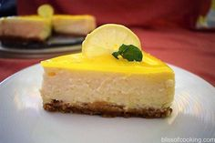 Eggless Lemon Cheese Cake is a delicious cheese cake recipe. A truly simple and elegant dessert that is very easy to make. Eggless Cheesecake Recipe, Lemon Cheesecake Recipes, Eggless Desserts, Eggless Recipes, Eggless Baking, Lemon Desserts, Easy Cake Recipes, Brownie Recipes, Delicious Desserts