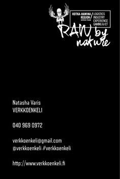 Verkkoenkeli-käyntikortti, 2/2-puoli. Koko 80 x 100 mm. © Natasha Varis, 2014.
