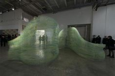 Robotic 3D printing creates Iridescence Print a large-scale spatially complex structure from 3D printed mesh