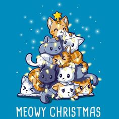 67 Ideas Funny Cute Illustration Happy For 2019 Christmas Kitten, Christmas Humor, Christmas Tree, Funny Merry Christmas, Merry Christmas Drawing, Christmas Quotes, Cute Animal Drawings, Kawaii Drawings, Funny Christmas Wallpaper