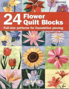 24 Flower Quilt blocks