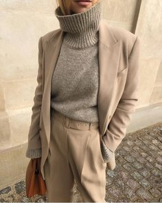 "status:LUSSO on Instagram: ""STYLE INSPIRATION  Easy Chic for Casual #Monday Timeless Neutrals  Ph Credits 📷 : #regram ..... #styleoftheday #streetfashion #suit…"""