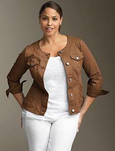 The no collar jean jacket