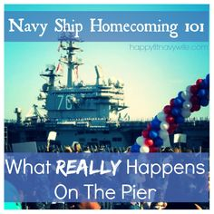 Navy Ship Homecoming What is it REALLY like on the pier? Navy Life, Navy Mom, Welcome Home Signs For Military, Homecoming Pictures, Homecoming Ideas, Military Homecoming Signs, Military Love, Navy Ships, Insight