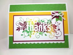 Fall Thanksgiving Card: Stampin Up Happy by StampinINK on Etsy