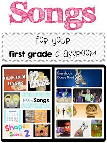 A day in first grade: Songs for your first grade classroom