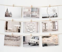 Paris Postcard Set Framable Photo Cards White by TheParisPrintShop, $15.00